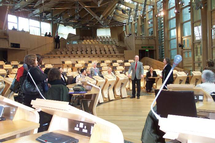 Meeting the MSPs in Parliament
