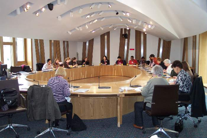 Discussions at the Scottish Parliament