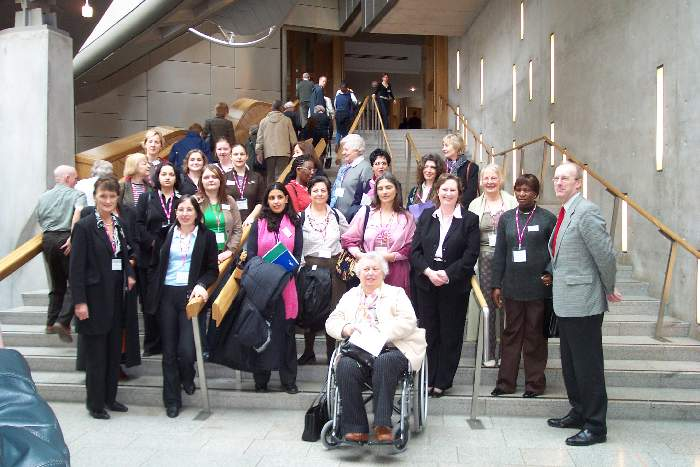 Delegates and MSPs at the Scottish Parliament